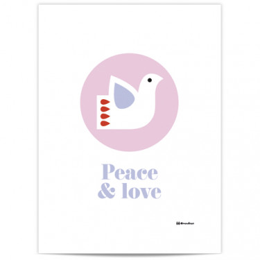 Mini Affiche - Peace and love
