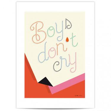 Mini Affiche - Boys don't cry