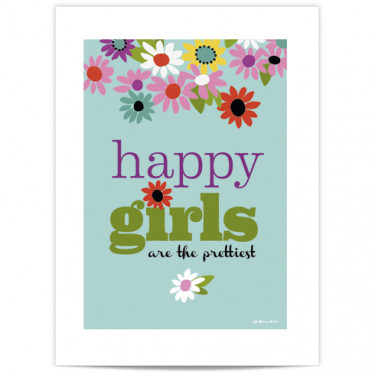 Mini Affiche - Happy girls