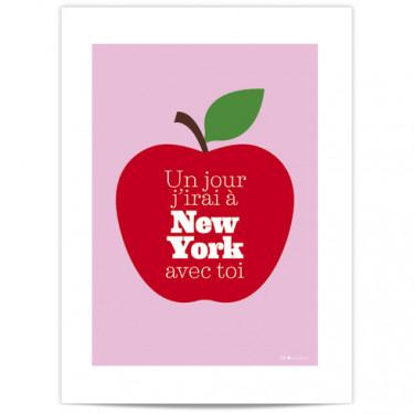 Mini Affiche - J'irai à New York ...
