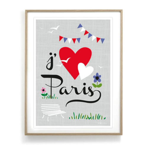 affiche j 39 aime paris. Black Bedroom Furniture Sets. Home Design Ideas