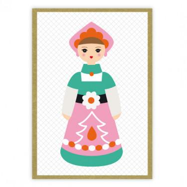 Carte Tin Toy - Rose