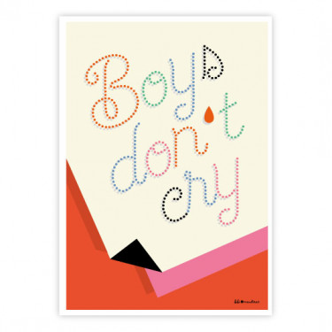 Carte postale - Boys don't cry