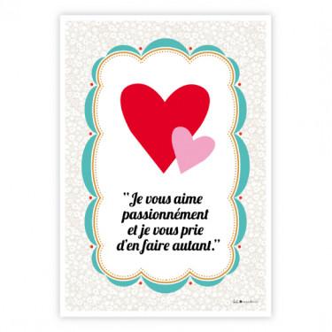 Carte postale - Je vous aime...
