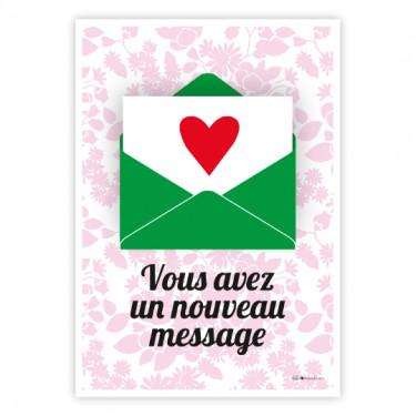 Carte postale - Vous avez un message