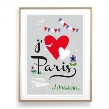 Affiche - J'aime Paris