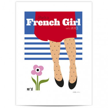 Mini Affiche - French girl