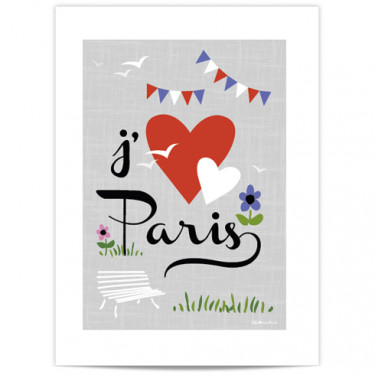 Mini Affiche - J'aime Paris