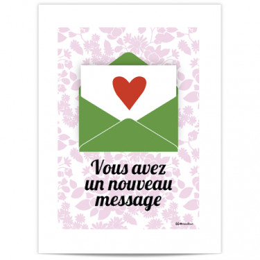 Mini Affiche - Vous avez un message