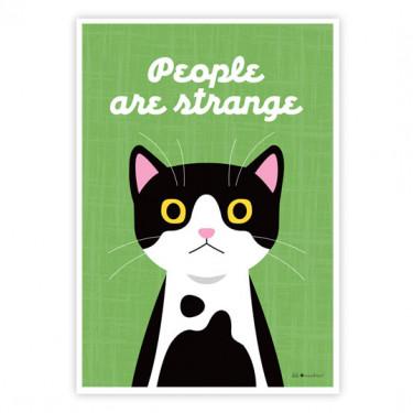 Carte postale - People are strange