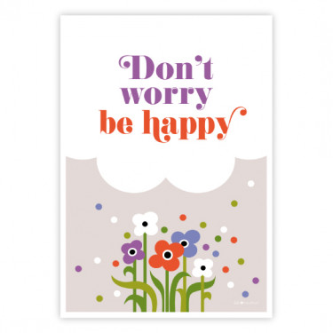 Carte Postale - Don't worry be happy